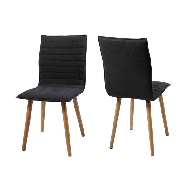 Jedálenská stolička Karla, tmavosivá