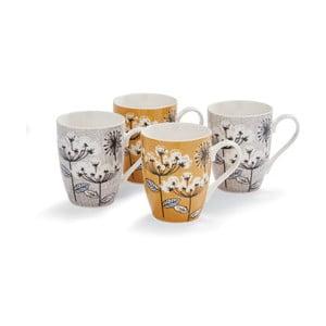 Sada 4 porcelánových hrnčekov Cooksmart England Spring, 350 ml
