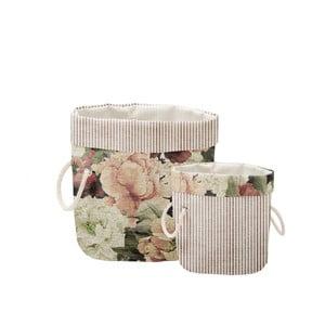 Sada 2 ks dekoratívnych košov Linen Roses