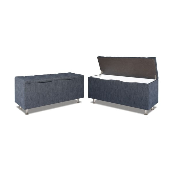 Sivá úložný box Gemega Coffin, délka 142 cm
