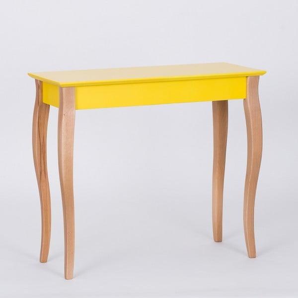 Žltý odkladací stolík Ragaba Console,dĺžka85cm