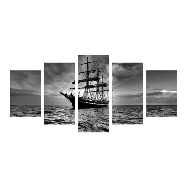 Viacdielny obraz Black&White Ship
