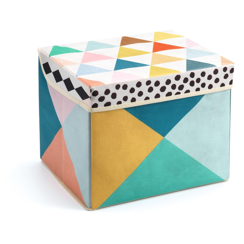 Pestrofarebná škatuľka na hračky Djeco