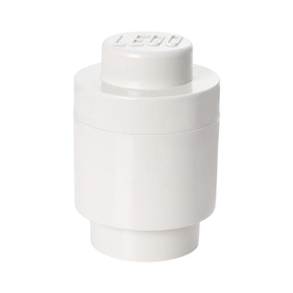 Biely úložný okrúhly boxík LEGO®