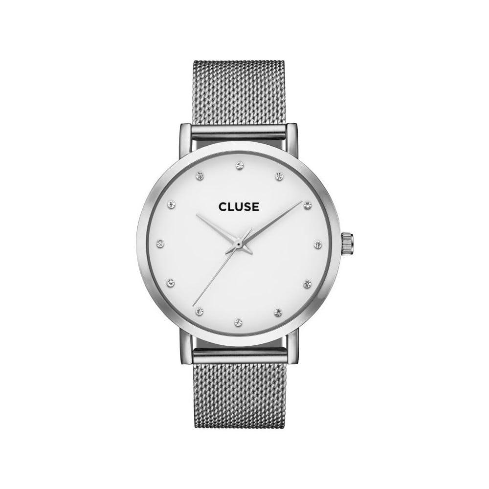 Dámske antikoro hodinky v striebornej farbe Cluse La Bohéme Pavane Stones