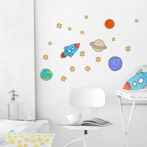 Samolepka na stenu Space Rocket