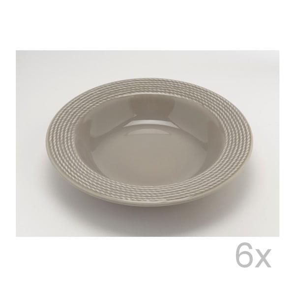 Hlboký tanier Taupe 23 cm (6 ks)