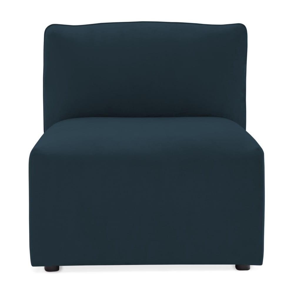 Námornícka modrý prostredný modul pohovky Vivonita Velvet Cube