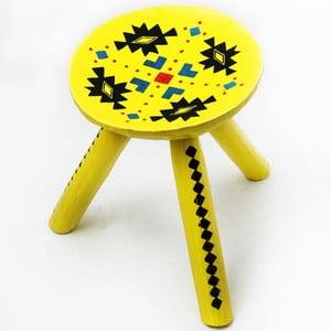 Ručne maľovaná stolička Ludos, 28 cm
