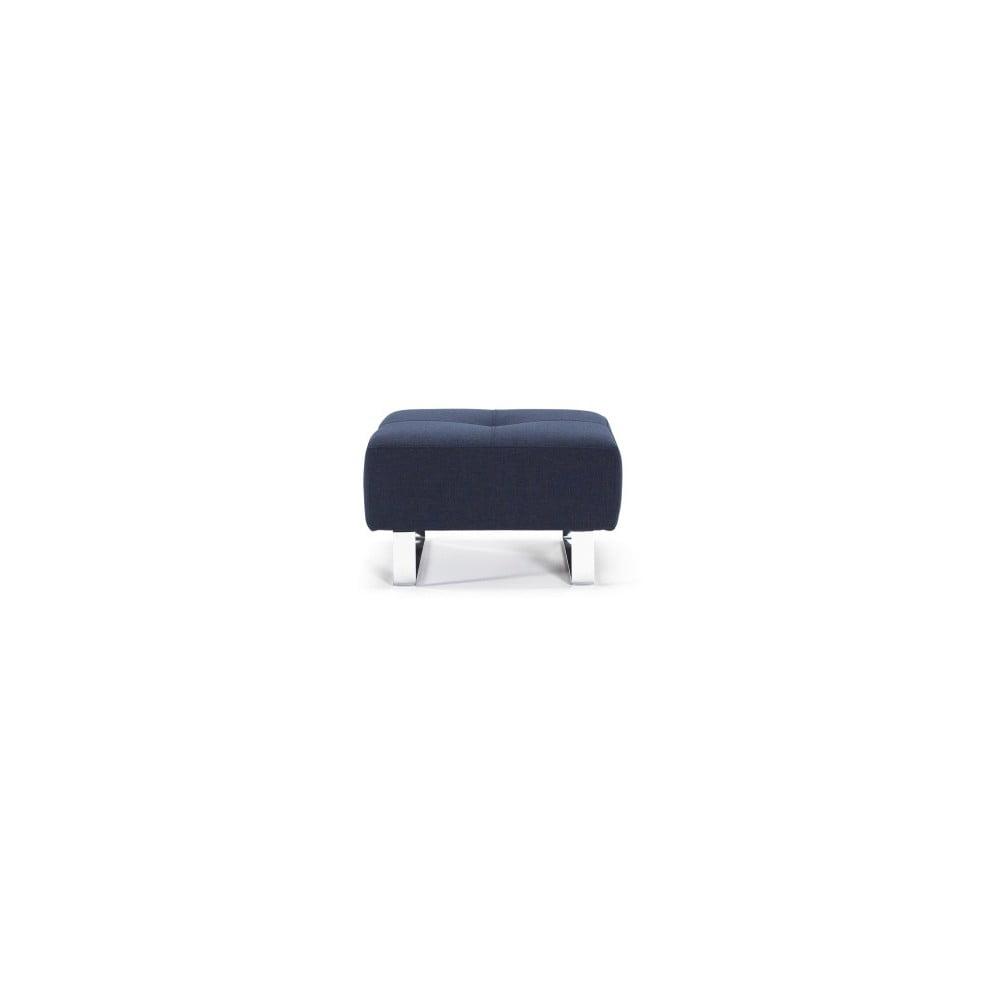 Tmavomodrý taburet Innovation Cassius Mi×ed Dance Blue, 65 × 65 cm