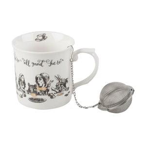 Porcelánový hrnček se sítkem Creative Tops Alice in Wonderland, 300 ml