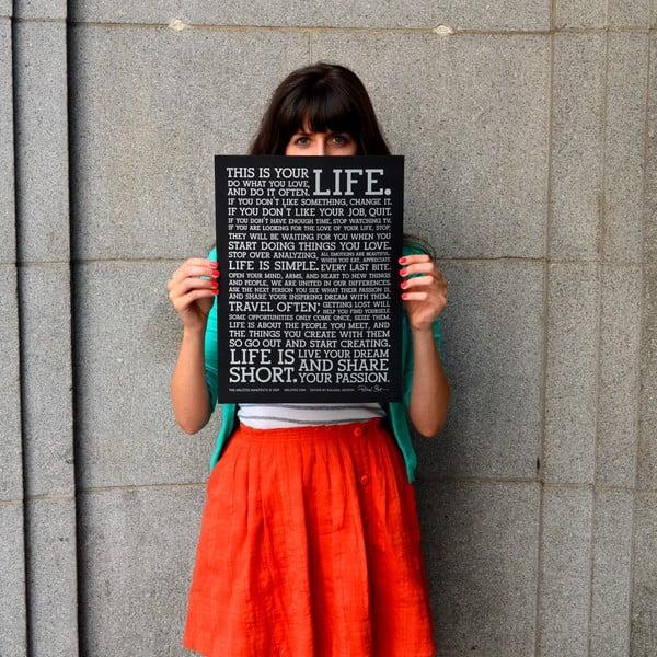 Plagát Black Manifesto, 41x30 cm