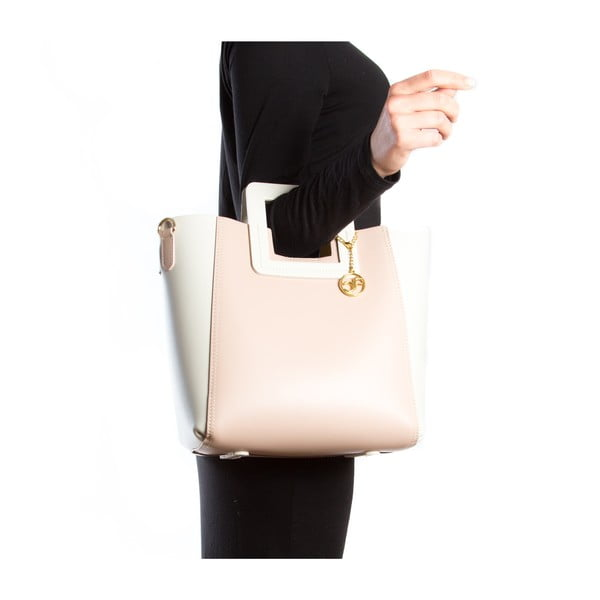 Kožená kabelka Camoa, ružová