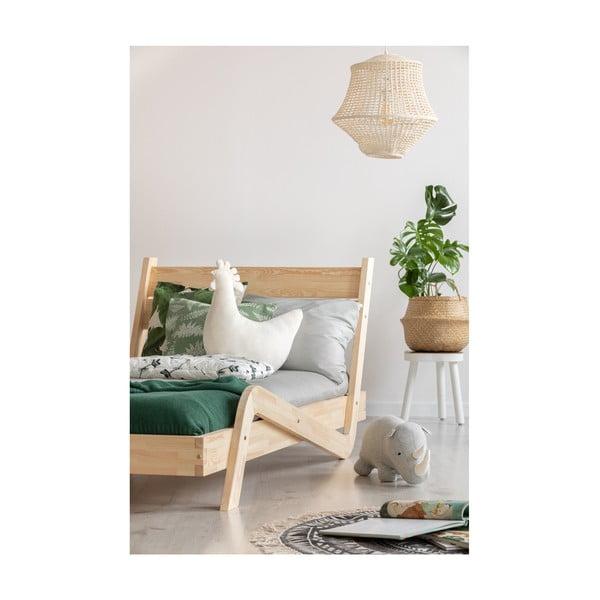 Detská posteľ z borovicového dreva Adeko Zigzag, 90×140 cm
