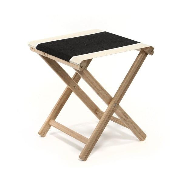 Skladacia stolička Beach, čierna