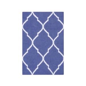 Vlnený koberec Caroline Dark Blue, 60x90 cm