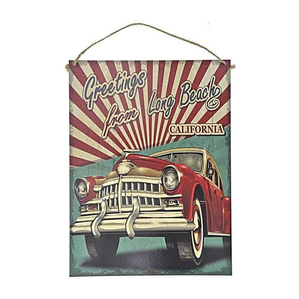 Nástenná ceduľa Red Car, 30x40 cm