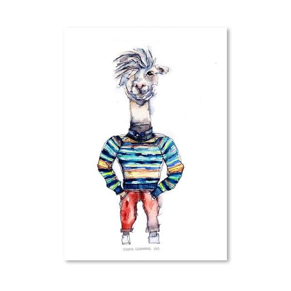 Plagát Nigel the Llama, 30x42 cm