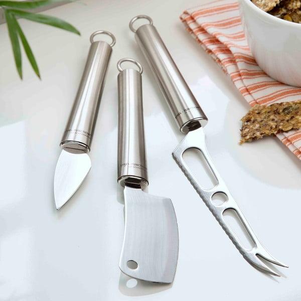 Sada 3 nožov na syry Steel
