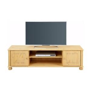 Hnedý dvojdverový TV stolík z masívneho borovicového dreva Støraa Ella