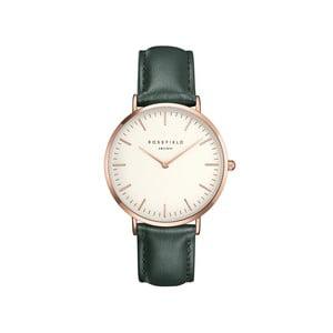 Bielo-zelené dámske hodinky Rosefield The Bowery