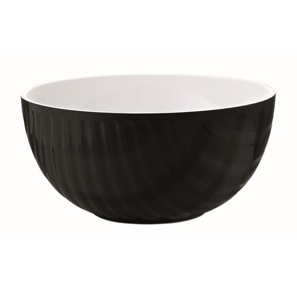 Čierno-biela miska Fratelli Guzzini Mirage, 20 cm