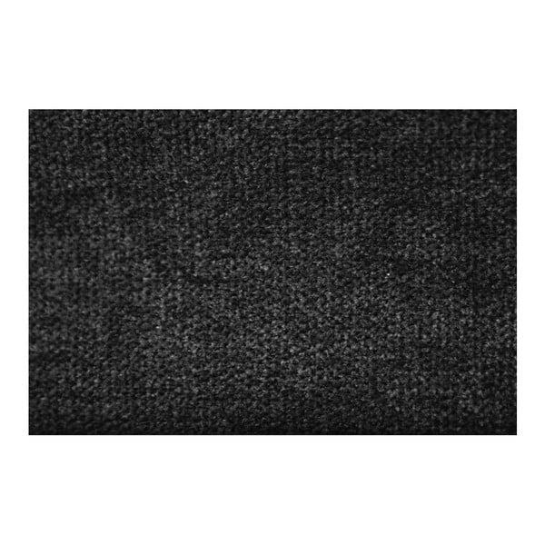 Čierna pohovka Modernist Crinoline, pravý roh