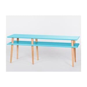 Konferenčný stolík Mugo Tmavo tyrkysová, 119 cm
