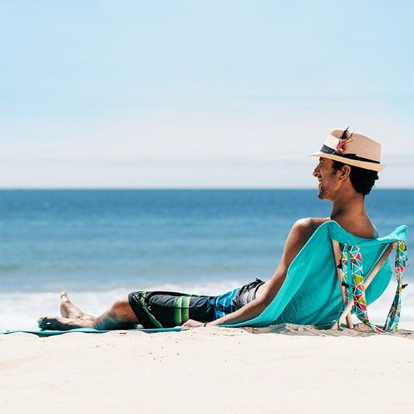 Skladacie plážové lehátko a osuška v jednom Sun Seat Water Geo