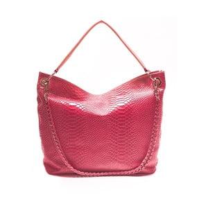 Kožená kabelka Mangotti 8034, ružová
