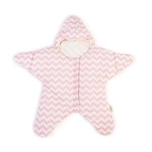 Detský vak na spanie Pink Star, vhodný aj na leto, pre deti do 3 mesiacov