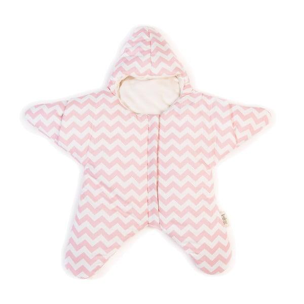Detský vak na spanie Pink Star, vhodný aj na leto, pre deti od 4 do 7 mesiacov