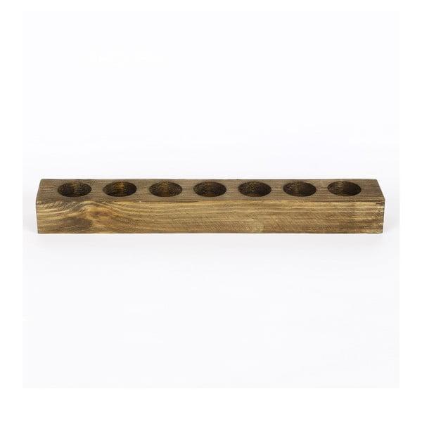 Drevený svietnik Mum, dĺžka 45 cm