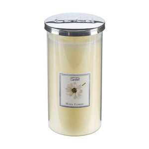 Aroma sviečka  White Flowers Talll, doba horenia 70 hodín