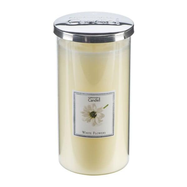 Aróma sviečka s vôňou kvetov Copenhagen Candles White Flowers Talll, doba horenia 70 hodín