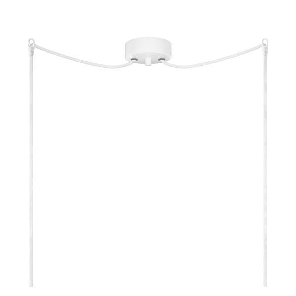 Bielo-medené dvojité závesné svietidlo Sotto Luce Dosei