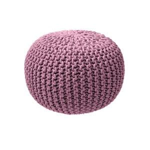 Svetloružový pletený puf ZicZac