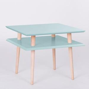 Konferenčný stolík UFO Square Light Turquoise, 55 cm (šírka) a 45 cm (výška)