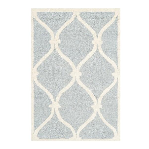 Vlnený koberec Hugo, 91x152 cm, svetlomodrý