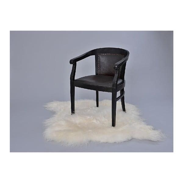 Kožušinový koberec White, 100x90 cm