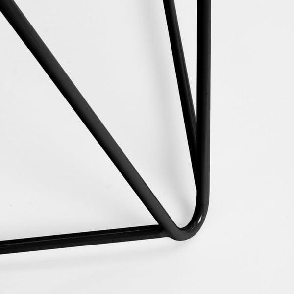 Čierna noha ku stolu Master & Master Diamond, 70x55cm