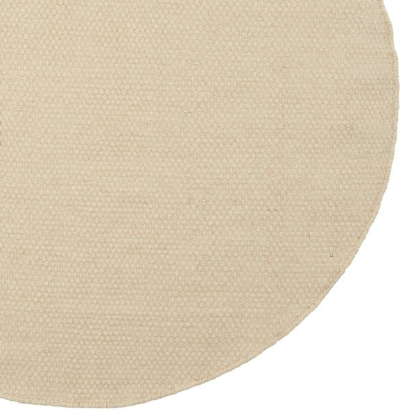 Vlnený koberec Asko White, 90 cm
