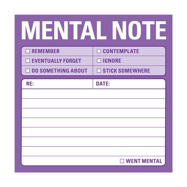 Lepiace papieriky Mental Note