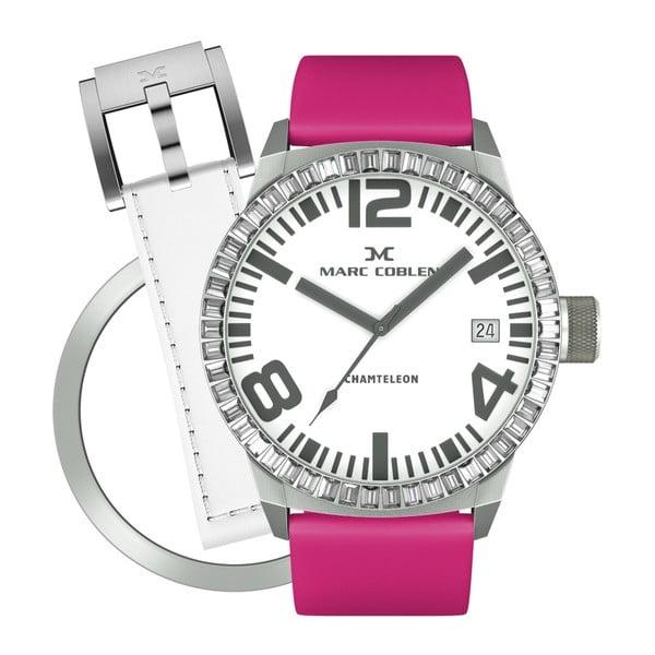 Dámske hodinky Marc Coblen s remienkom a ozdobou ciferníku naviac P6