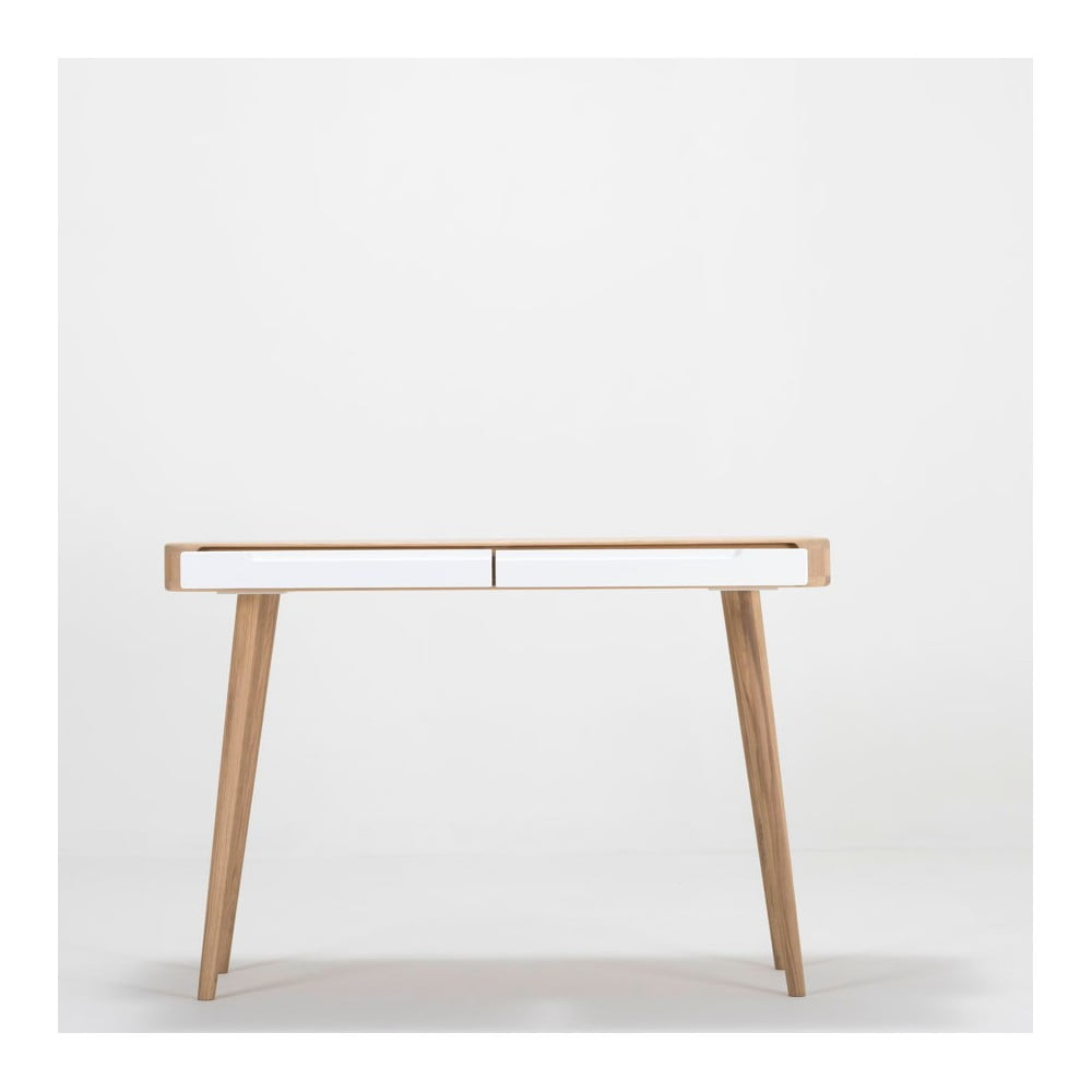 Konzolový stolík z dubového dreva Gazzda Ena, 110 × 42 × 75 cm