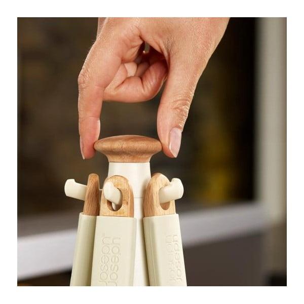 Stojan s nástrojmi Elevate Wood Carousel, šedý