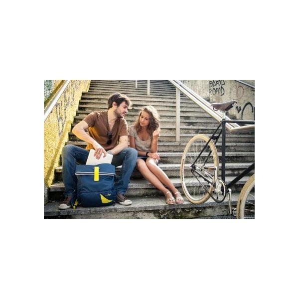 Veľký batoh na bicykel Tubí, modrá/oranžová