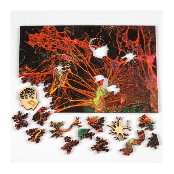 Puzzle Orange Neural Network, 15x23 cm