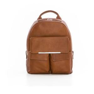 Hnedý kožený batoh Gianni Conti Petrina