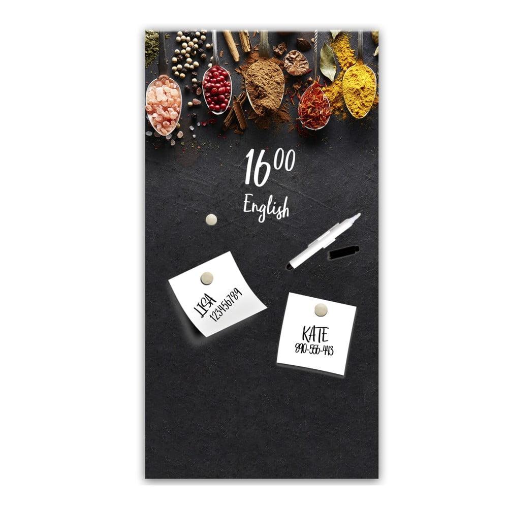 Magnetická tabuľa Styler Dark Spoons, 30 × 60 cm